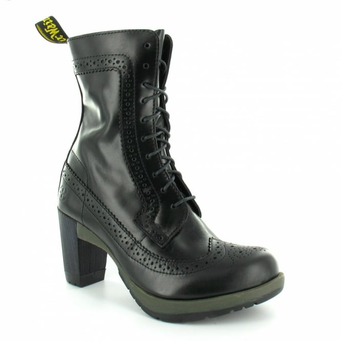 46367f8c680 Dr Martens Regina Womens High Heeled Leather Ankle Boot - Black ...