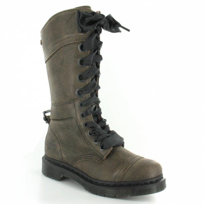 most reliable special price for ever popular Triumph 1914 Womens Union Jack Fold Over Lace-Up Mid-calf Boots - Grunge  Grey