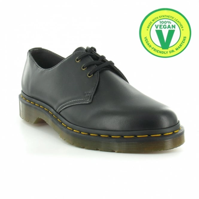 Dr Martens Vegan 1461 Mens 3-Eyelet Shoes - Black