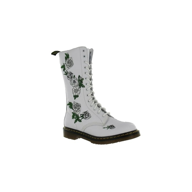 84c1a098786d Dr Martens Vonda Womens Leather Boots - White - Mid-calf Boots from ...