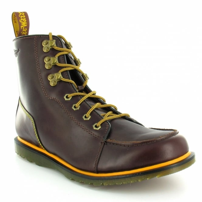d79e0489931 Weston Mens Leather Lace-Up Ankle Boots - Dark Brown