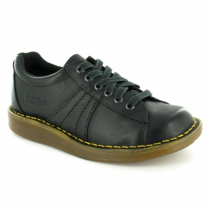 95c301d7c6 Dr Martens Mel Womens Mirage Leather 6-Eyelet Lace-up Shoes - Black ...