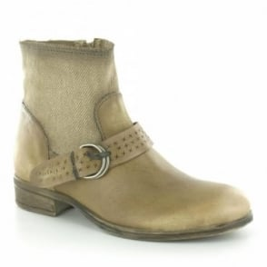 MJUS 900207 Womens Leather & Textile Ankle Boots - Savanah Brown