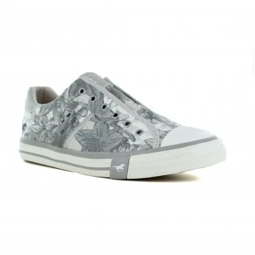 Mustang 1146-402-932 Womens Fashion Trainers Shoes - Silver Grey