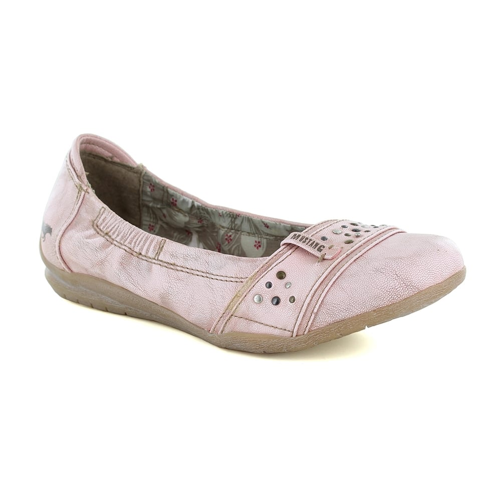 5742441911dcf Mustang 1181-206-555 Womens Ballerina Pump Shoes - Rose Pink