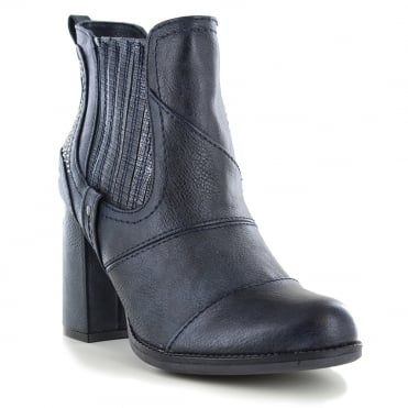 Mustang 1251-501-820 Womens Ankle Boots - Navy