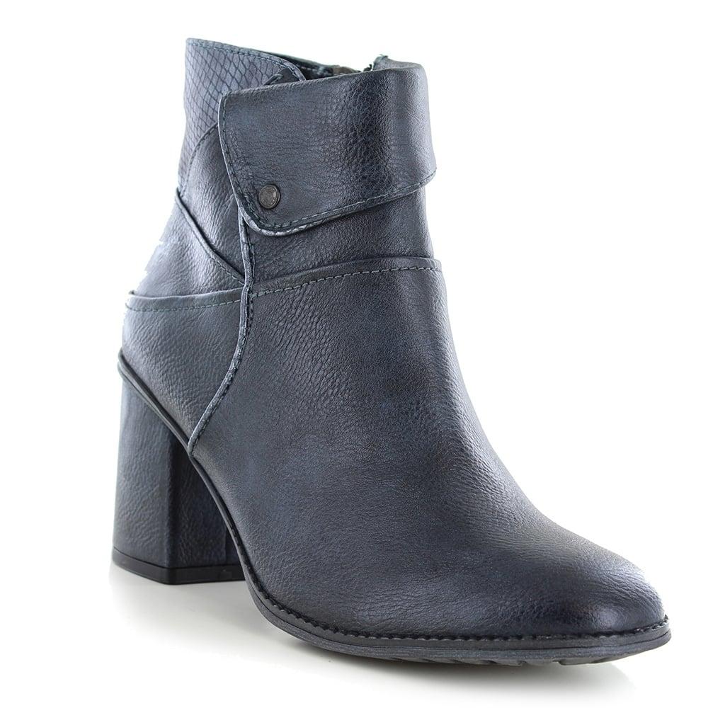 le dernier 67688 d4510 1256-502-820 Womens Faux Leather Ankle Boots - Navy