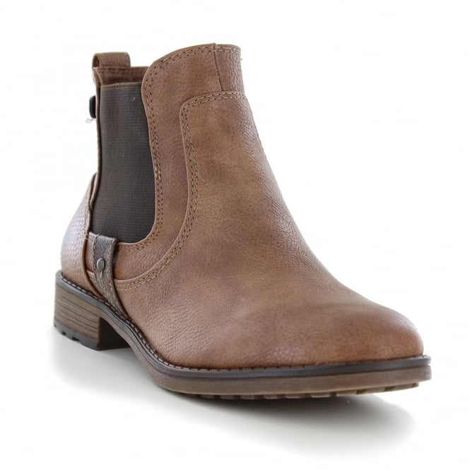 Mustang 1265-501-301 Womens Ankle Boots - Kastanie Brown