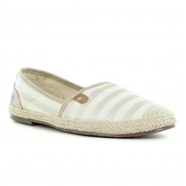 Mustang 1266-207-699 Womens Slip On Shoes - Gold Strips