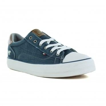Mustang 1272-301-810 Womens Fashion Trainers - Petrol Blue