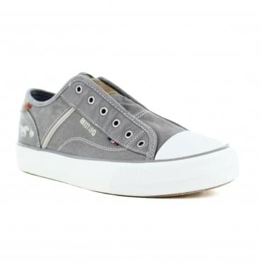 Mustang 1272-401-2 Womens Fashion Trainer Shoes - Grey