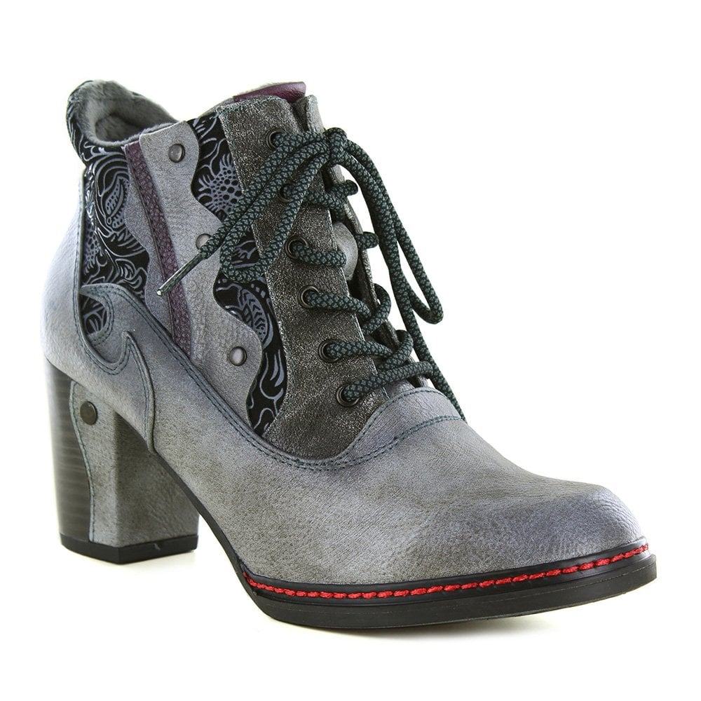Mustang 1287-512-2 Womens Faux Leather Side Zip Ankle Boots - Grey 9e10103ac