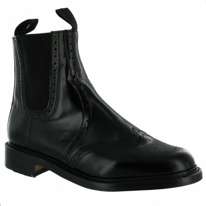 NPS N.P.S LS310BK Mens Leather Dealer Chelsea Boots - Black