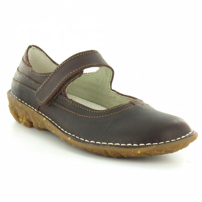 El Naturalista N002 Savia Womens Leather Mary Jane Shoe - Dark Brown ... dde0b1614f