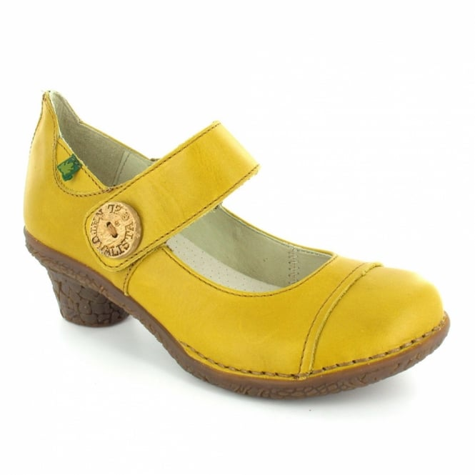 Mustard Yellow Shoes Low Heel