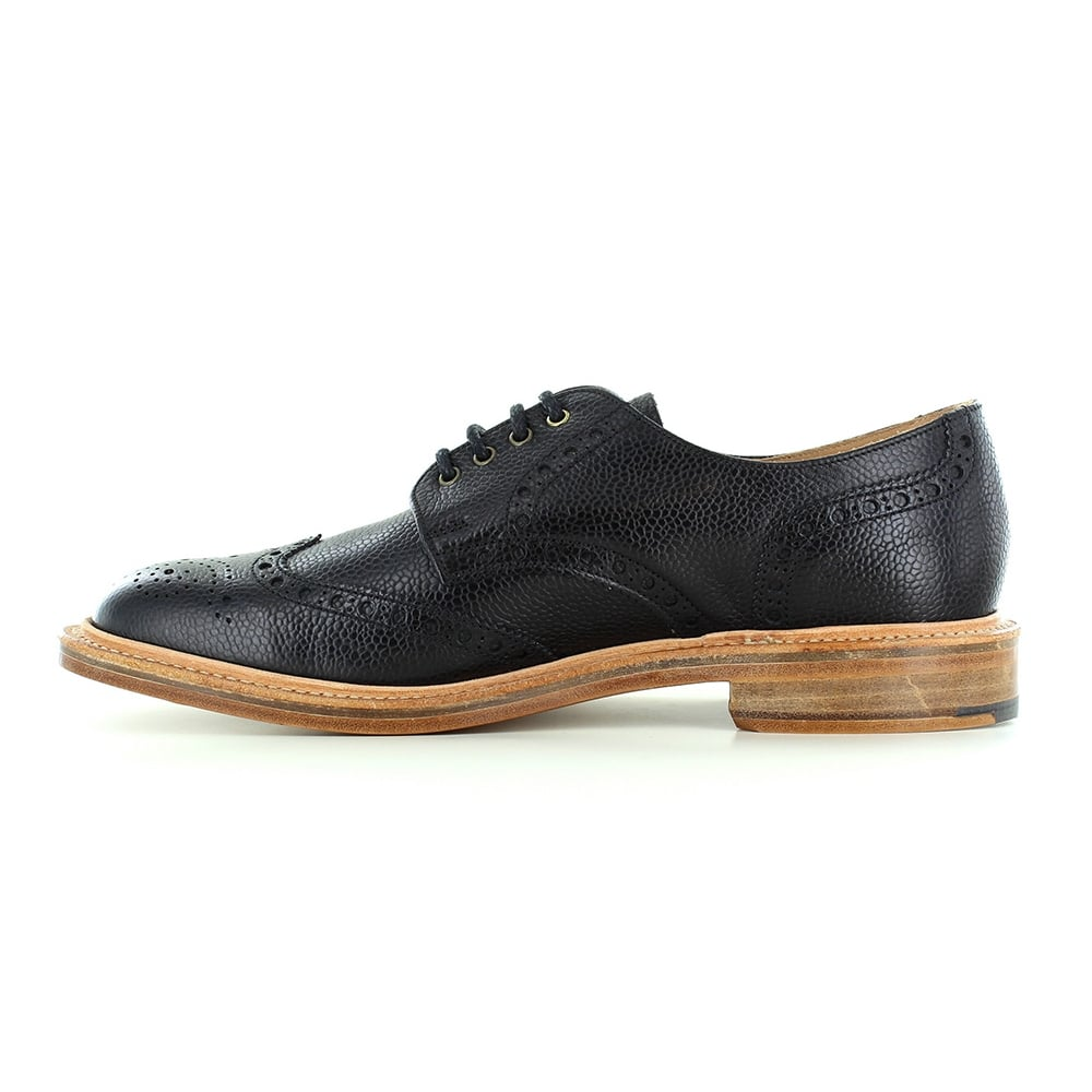 Nps Heritage 055 055 Mens Leather Wing Tip Brogue Shoes In