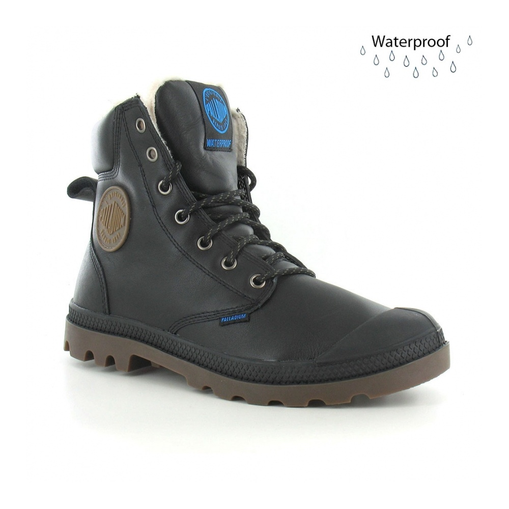 b3846269edd Pampa Sports Cuff WPS Mens Warm Lined Waterproof Ankle Boots - Black
