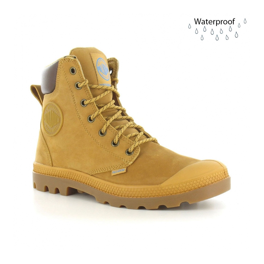 Palladium Pampa Sports Cuff WP Mens Waterproof Ankle Boots in Amber ... 9d027c83b