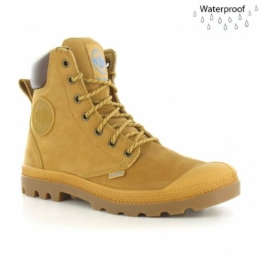 Palladium Pampa Sports Cuff WP Mens Waterproof Ankle Boots - Amber Gold