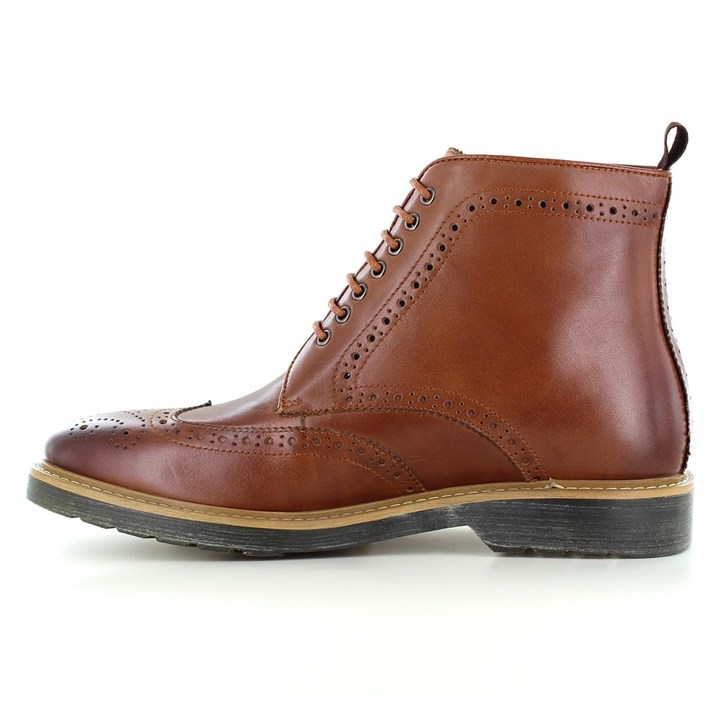 paolo vandini napchester mens leather 7 eyelet brogue