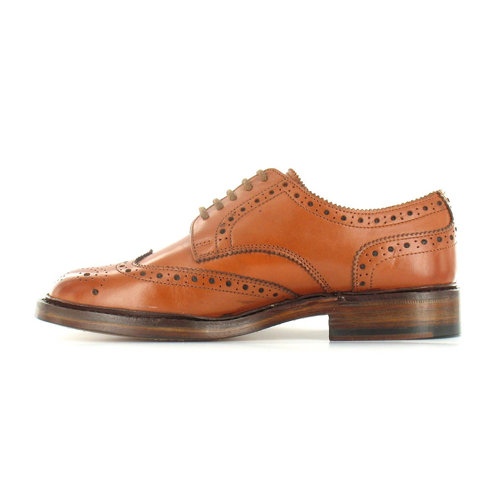 paolo vandini gladstone mens leather brogue 5 eyelet shoes