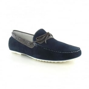 Paolo Vandini Taxbury Mens Suede Loafer - Navy & Brown