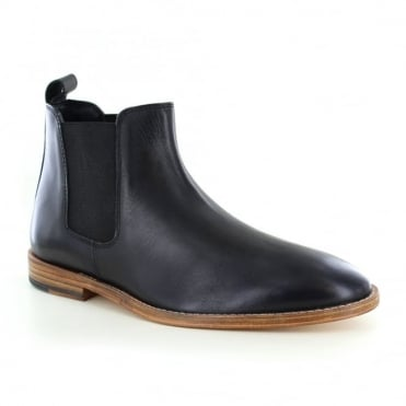Paolo Vandini Portway Mens Leather Chelsea Boots - Black