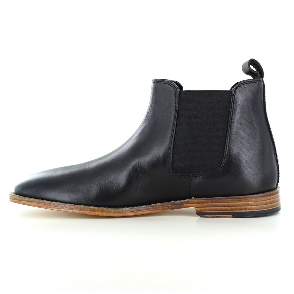 paolo vandini portway mens leather chelsea boots black