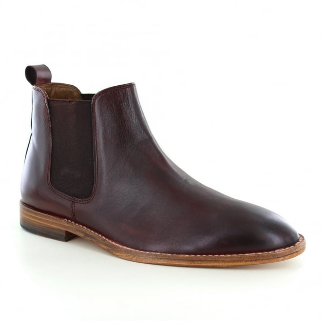 Paolo Vandini Portway Mens Leather Chelsea Boots - Burgundy