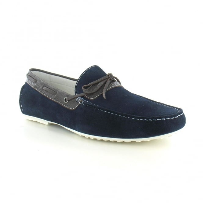 Paolo Vandini Taxbury Mens Suede Loafer - Navy And Brown