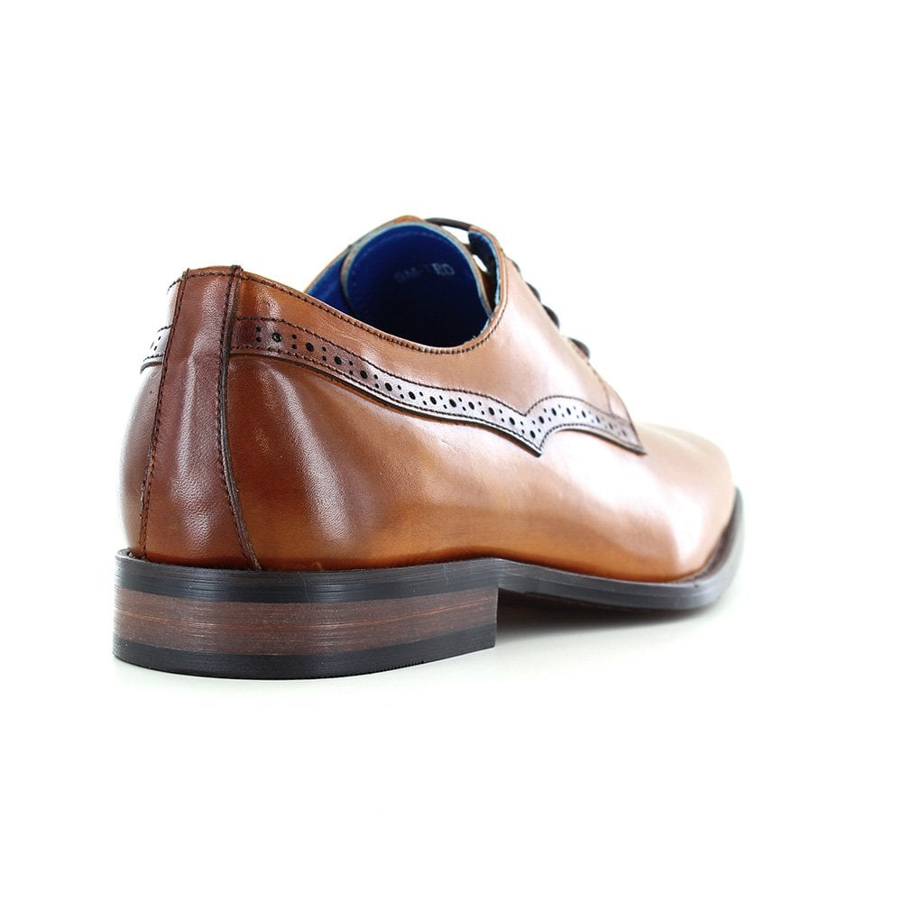 Paolo Vandini Rambeau Buckle Fastening Monk Shoes Tan