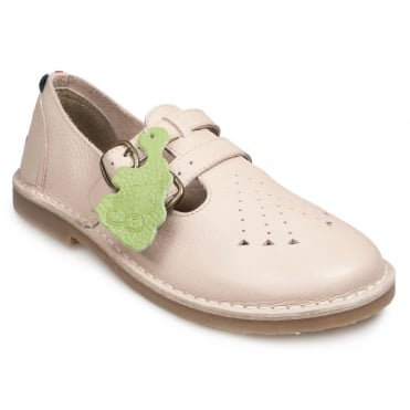 Pod Marley Womens Leather 2-Strap Sandals - Baby Pink