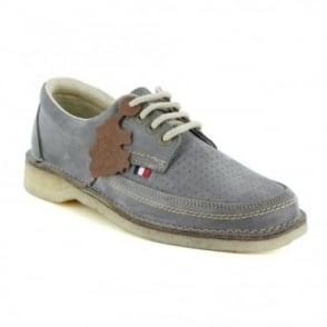 Pod Heritage Gallagher Mens Leather 4-Eyelet Shoes - Grey