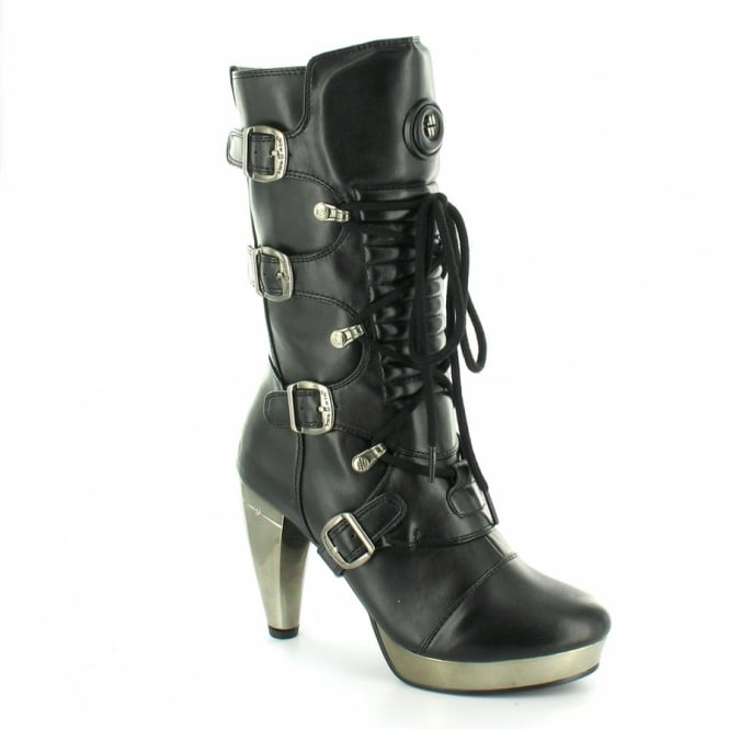new rock m5373 s1 womens high heel platform boots black