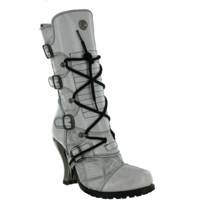 new rock m5701 womens boots white high heels from