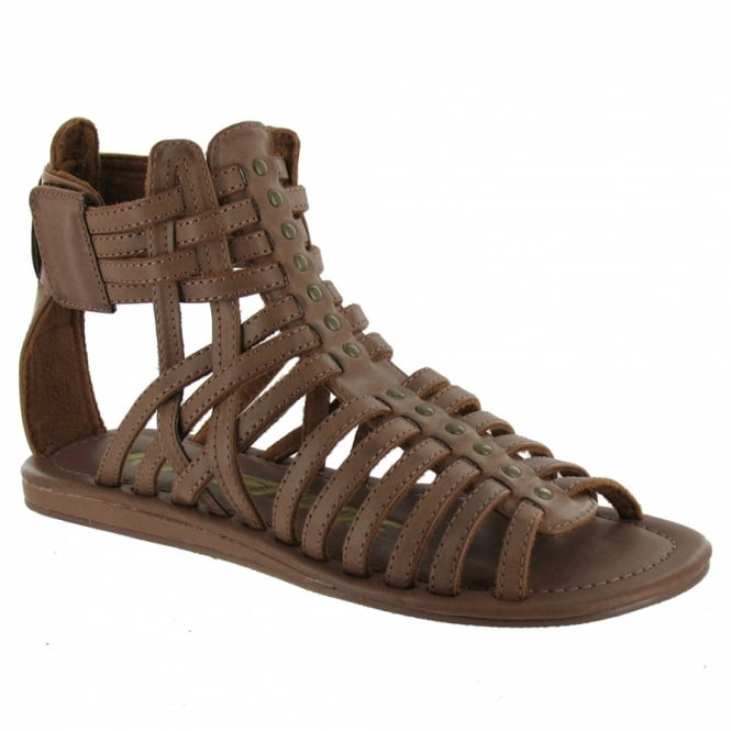 a8a70d388a791 Dita BPI Womens Strappy Roman Gladiator Sandals - Brown