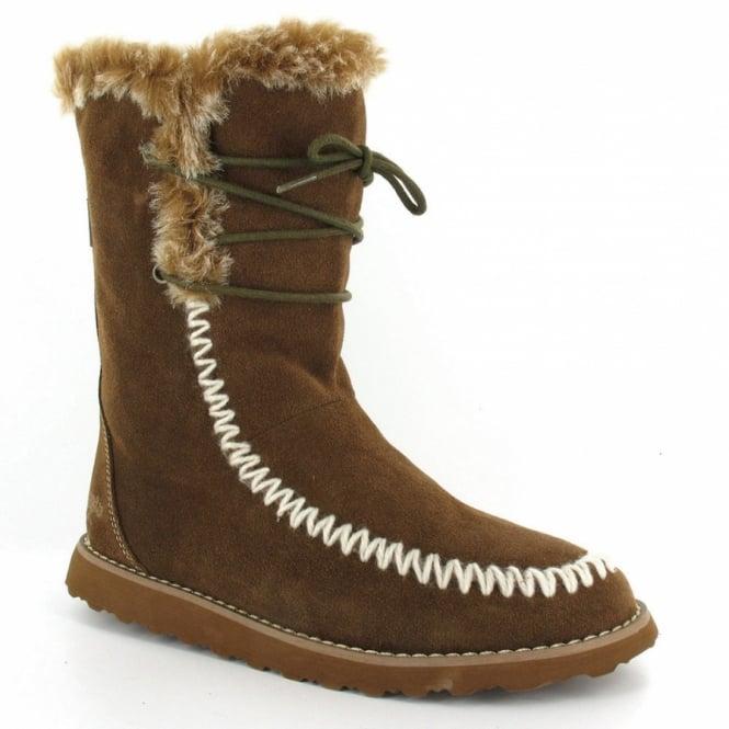 d85542aedaf49 Rocket Dog Powderpuff Womens Faux Fur Mid-calf Boot - Desert Sand Brown