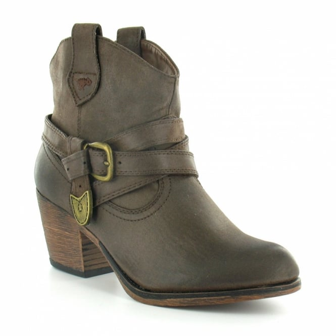 68e798d53b8 Satire Womens Cowboy Western Pull-On Ankle Boots - Brown