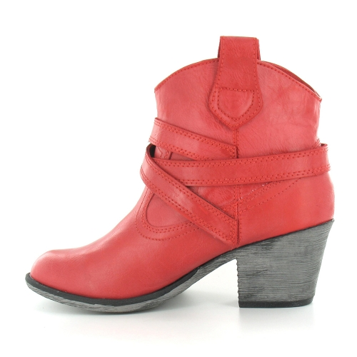 Rocket Dog Satire Womens Cowboy Western Pull-On Ankle Boots in red ...