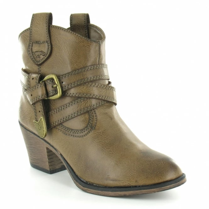 4b2a353803d Rocket Dog Rocket Dog Satire Womens Cowboy Western Pull-On Ankle Boots -  Taupe