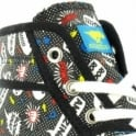 Rocket Dog Screamout Womens Canvas Comic Print Basketball Ankle Boots - Black