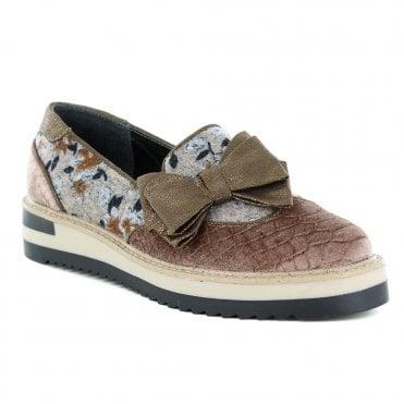 f12800bed6c45 Ruby Shoo Joanne Womens Slip-On Brogue Shoes - Mink