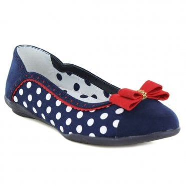 b055d29850a17f Ruby Shoo Lizzie Womens Slip-On Pumps - Navy Spots