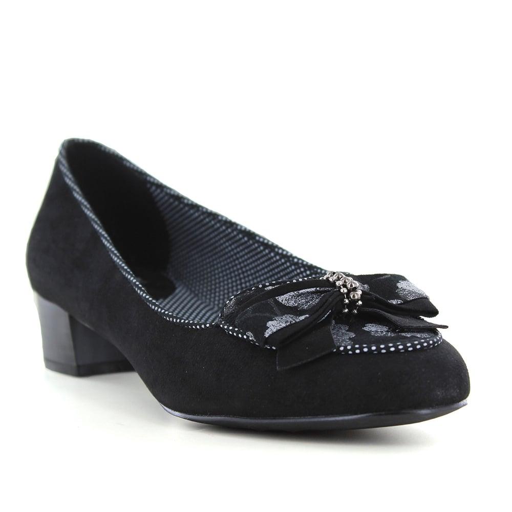 afbe074cb381 Ruby Shoo Victoria Womens Low Heel Shoes - Black