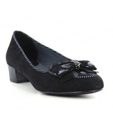 Ruby Shoo Victoria Womens Low Heel Shoes - Black