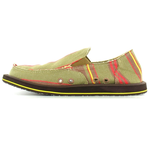 sanuk sanuk donny mens canvas slip on shoes multi brown