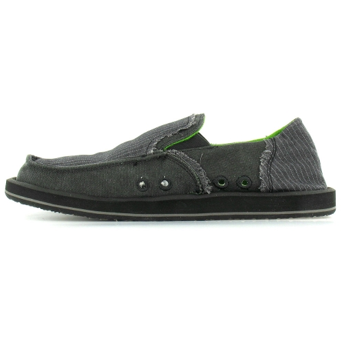 sanuk sanuk kerouac mens canvas slip on shoes black