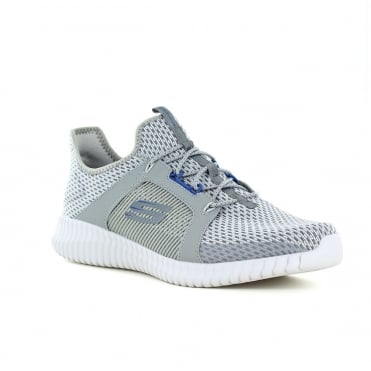 Skechers Elite Flex Mens Slip-On Trainers - Grey/Blue