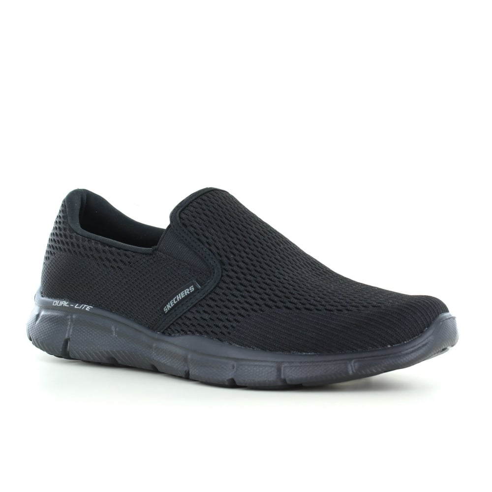 check out 85522 29c33 Skechers Equalizer Double Play Mens Slip-On Trainers - Black