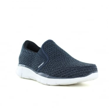 Skechers Equalizer Slickster Mens Slip-On Trainers - Navy